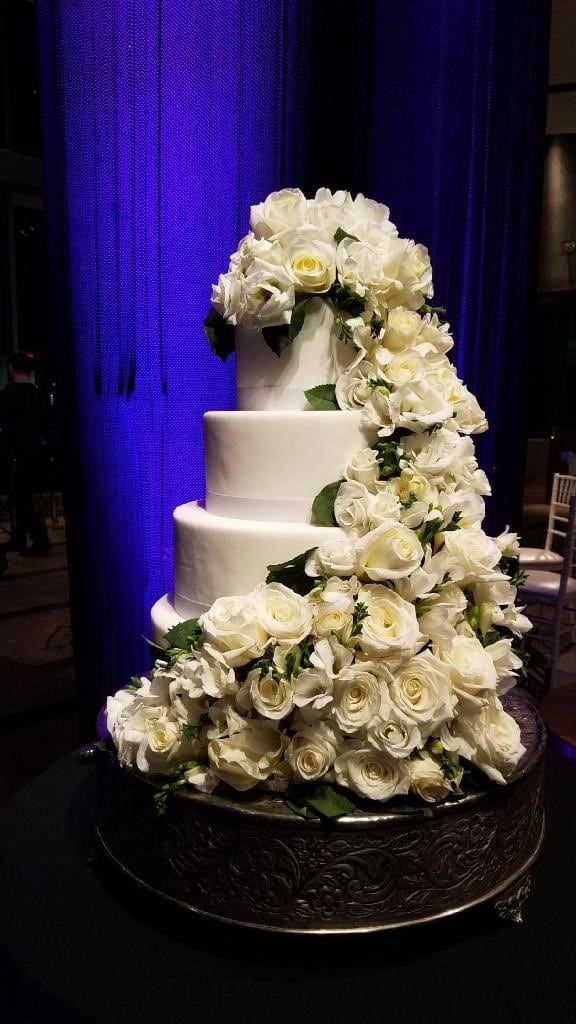 Floral draped cake - Wedding Cake